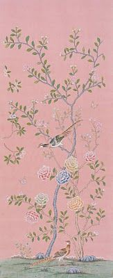 hand painted de Gournay wallpaper!