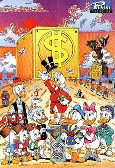 Disney Duck, Disney Girls, Disney Mickey, Disney Art, Mickey Mouse, Duck Cartoon, Cartoon Art, Caricatures, Don Rosa