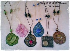 COLLARES ARTESANALES II Washer Necklace, Pendant Necklace, Create Your Own, This Or That Questions, Jewelry, Enamels, Beading, Necklaces, Resin