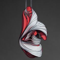 Lydia Hirte creates sculptures and art on paper from Germany. Some of his sculptures are transformed into jewelry with a very interesting line movement, like the waves of the sea.