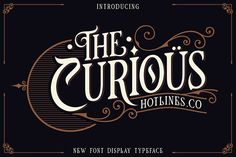 The Curious new font display with classy, elegant and vintage feel character set. To create the beautiful combination, just mix the uppercase and lowercase then mix with the alternative glyphs and playing with Ornament. Script Logo, Script Type, Business Brochure, Business Card Logo, Business Tips, Sans Serif, Site Website, Uppercase And Lowercase, Premium Fonts