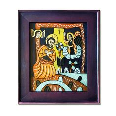 Religious Icons, Sacred Art, Wooden Frames, Pray, Folk, Hand Painted, Models, Traditional, Glass