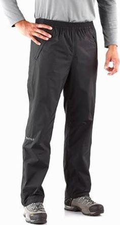 Marmot Men's PreCip Full-Zip Rain Pants Black XXL