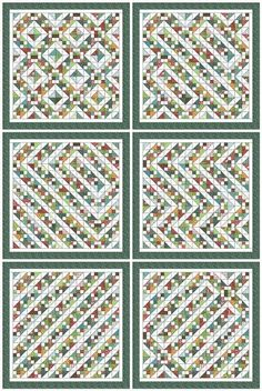 it is all in the layout -- same block, diff layouts/setting options on Kim's Big Quilting Adventure