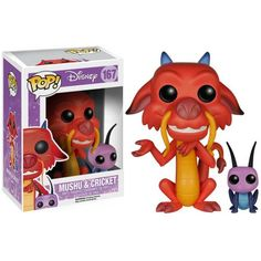 This is a Disney Mulan Mushu And Cricket POP Vinyl Figure that is produced by Funko. Mulan fans are sure to be excited by seeing their favorite characters in Funko POP Vinyl style. Mushu a Disney Pop, Disney Pixar, Disney Facts, Disney Movies, Mushu Mulan, Funk Pop, Pop Vinyl Figures, Tous Les Disney, Anime Quotes Tumblr