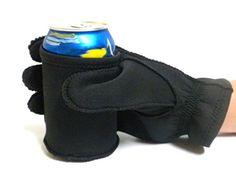 Insulated Neoprene Built In Beer Gloves Unisex - Left Hand Black