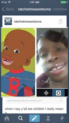 She look like little bill lol.
