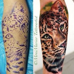 Cheetah Tattoo Artist: Moni Marino (@moni_marino_artist) Location: Travels Worldwide