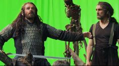 Thorin bts - with his stunt double??
