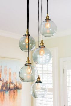 Filament Lighting // Slate Design Studio - All For Decoration Dining Room Lighting, Home Lighting, Lighting Design, Kitchen Light Inspiration, Home Decor Inspiration, Pendant Lamp, Pendant Lighting, Kitchen Ceiling Lights, Ball Lights