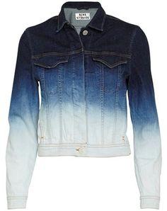 Acne - Stace Degrade denim jacket - blå - YouHeShe.com