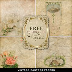 Flower and Easter Papers for Free
