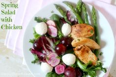 Spring Salad with Chicken - simply fresh dinners