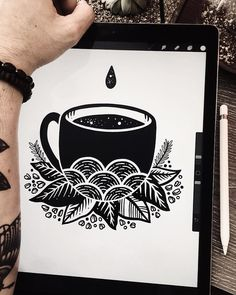 FIRST COFFEE ☕️ #inktober2017 • #pablocontrario #illustration #drawing #illustrator #ilustracion #dibujo #ilustrador #black #blackandwhite #tattoo #tattooideas #tatuaje #tatooed #mustache #bearded #beard #art #linework #dotwork #blackwork #coffee #instagood #instadaily #inktober