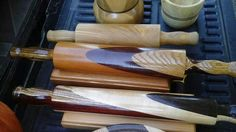 Exotic wood rolling pins Rolling Pins, Farmers Market, Exotic, Rolls, Wood, Pictures, Photos, Woodwind Instrument, Timber Wood