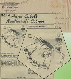 Vintage Apron Sewing Pattern | Anne Cabot Mail Order 5614 | Year 1943 | Size Medium | Four Leaf Clover Motif
