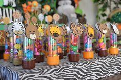 Tubetes decorados tema Safari