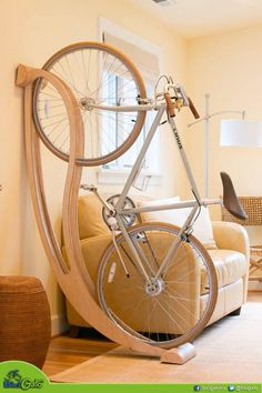How awesome is this apartment's bicycle storage game? So much better than locking it up outside.