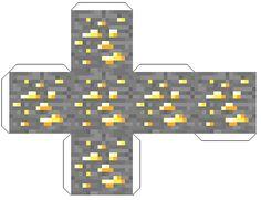 Minecraft Papercraft Gold Ore Kaynecraft Deto Forum