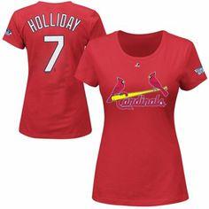 St. Louis Cardinals 2013 Matt Holliday MLB World Series Bound T-Shirt - Red
