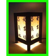 Oriental zen bedside table lamp home garden decor housewares furniture lantern lampshade night light lighting shade chinese language TBM919
