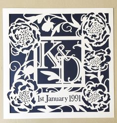 Personalised Papercut for Weddings Marriage by BBpapercuts on Etsy Paper Cutting, Art Quotes, Marriage, Weddings, Unique Jewelry, Handmade Gifts, Etsy, Vintage, Valentines Day Weddings