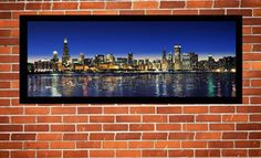 """Groupon - Framed 36""""x14"""" Framed Canvas Chicago-Skyline Giclée with Optional Shipping from Art & Company (Up to 67% Off) in Orland Park. Groupon deal price: $99.00"""