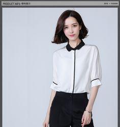 Su · màu voan áo sơ mi nữ 2016 mùa hè búp bê cổ khí Hàn Quốc CV dơi áo thời trang áo sơ mi -tmall.com Lynx Women's Fashion, Draw, Crop Tops, Sewing, Long Sleeve, Sleeves, Dresses, Style, Blouses