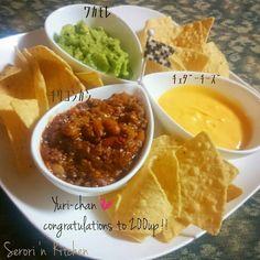 リメイク♬チリコンカン de ナチョスディップ♡ Guacamole, Mexican, Ethnic Recipes, Foods, Life, Food Food, Food Items, Mexicans