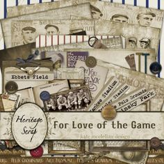 For Love of the Game - kit by Kate McClellan Design