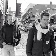 Wes Anderson and Owen Wilson at Sundance to show the BOTTLE ROCKET short. Park City, Utah, 1993. Photo courtesy and (c) Laura Wilson