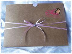 Convite de Casamento - Craft  Pedido minimo: 50 unidades  Menos de 50 unidades o valor será acrescentado  Acompanha: tag com o nome de cada convidado ou em branco   embalagem plastica   adesivo bolinha R$ 2,10