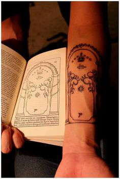 The Doors of Moria by Esteban Zunzunegui. At Madre Tinta Tattoo...