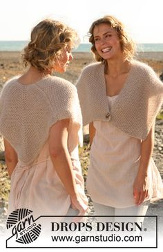 "Knitted DROPS shoulder piece in 4 threads ""Kid-Silk"". Size: S - XXXL. ~ DROPS Design"