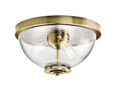 Silberne 3 Light Flush Mount in Natural Brass