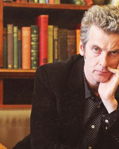 Peter Capaldi. I AM VERY PREPARED TO LOVE THIS MAN AS MUCH AS ECCLESTON AND BAKER.