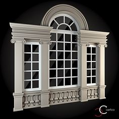 Buy Windows Collection by ThemeREX on Bundle of high quality polygonal models of windows.max Max 2010 for separate models) . House Front Design, Modern House Design, Door Design, Exterior Design, Neoclassical Architecture, Architecture Details, House 3d Model, Window Grill Design, Front Elevation Designs