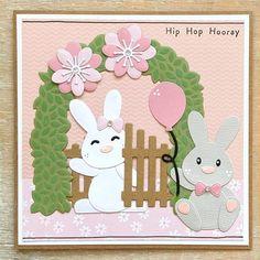 Baby Bunnies, Bunny, Hip Hop Hooray, Marianne Design, General Crafts, I Card, Cardmaking, Die Cutting, Arch