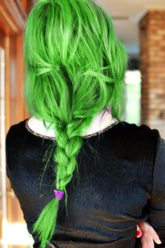 Neon Green braided hair