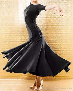 2018 New Elegant Ballroom Dance Dress Modern Waltz Standard Competition Black Dress B06 From Ballroom_dance_dress, $49.25 | Dhgate.Com