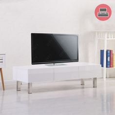 Awesome White Gloss Living Room Cabinets Pertaining To Residence Check More  At Http://. White Tv UnitTv ...