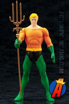 #DCCOMICS #SUPERPOWERS Collection. Tenth-Scale AQUAMAN. See more #ActionFigures #VintageToys and more here… http://actionfigureking.com/list-3/kotobukiya/tenth-scale-artfx-dc-comics-super-powers-aquaman-statue-from-kotobukiya