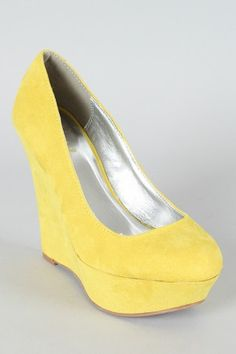 bridesmaid shoes yellow wedges - Google Search | Wedding-ish ...
