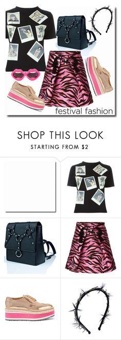 """Inspiration: Festival Fashion"" by skeletorsmom ❤ liked on Polyvore featuring Olympia Le-Tan, Current Mood, Kenzo, Prada, Gigi Burris Millinery and Linda Farrow"