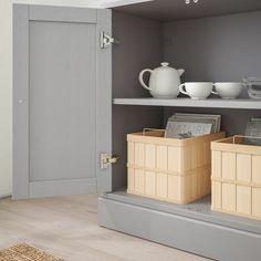 IKEA – HAVSTA Storage combination w/glass doors gray – toptrendpin. Scandinavian Furniture, Scandinavian Design, Open Shelving, Adjustable Shelving, Solid Pine, Solid Wood, Armoire, Glass Cabinet Doors, Glass Doors