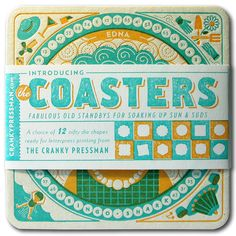 Design Life  |  letterpress coasters promo piece  |  Parliament of Owls, Cranky Pressman  |  2013