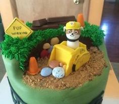 PAW Patrol Cake | Custom-Made-Edible-Paw-Patrol-Cake-Toppers-Ryder-Rubble-Marshall-Rocky ...