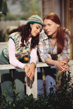 """DONNA: I know. I don't know what to do. I mean, I really like Eric and I'd like to have a physica relationship-- JACKIE: It's called """"make out,"""" Donna. Say it. DONNA: Alright, make out. But I don't want it to be public, I don't want it to be tacky, I don't want there to be pressure, and now it's this tacky, public pressure make-out thing. JACKIE: I understand. Everybody wants their first make-out to be special, in some place romantic. Like Ireland. Or Disney World. DONNA: Disney World?"""
