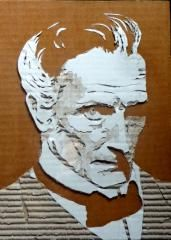 card board portraits Cardboard Relief, Cardboard Crafts, Art Techniques, Art Projects, Collage, Portraits, Cards, Inspiration, Painting