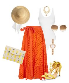A fashion look from September 2017 featuring orange skirt, suede shoes and envelope clutch. Browse and shop related looks. Orange Skirt, Suede Shoes, Tory Burch, Fashion Looks, Gucci, Clothes For Women, Skirts, Polyvore, Outfits